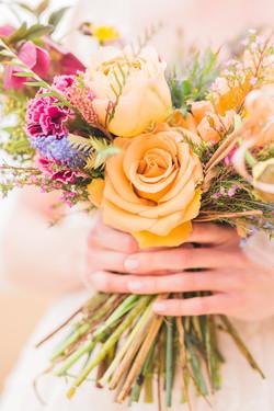 Combo Rose garden wedding flowers