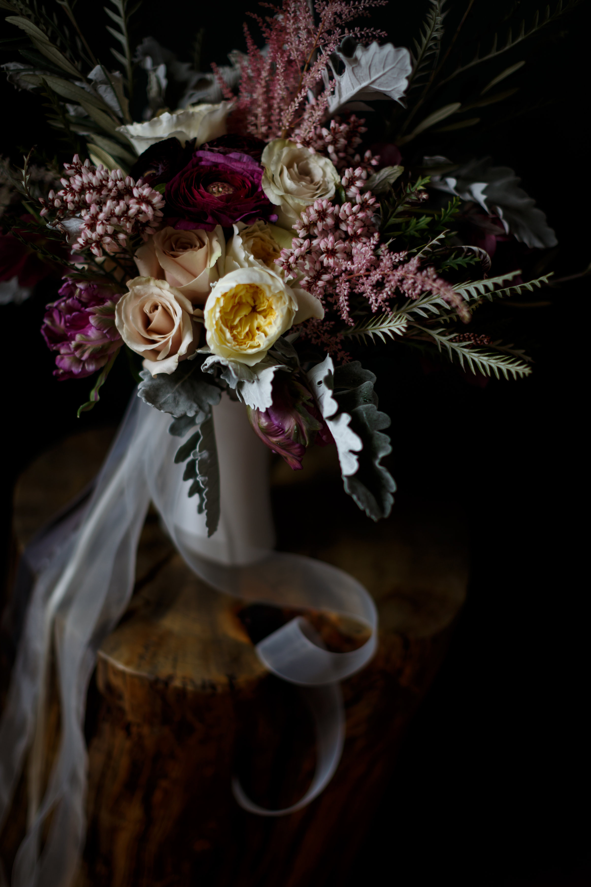 romantic bridal flowers