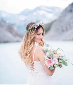 Prety mountain wedding