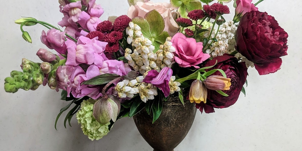 Masters Compote Design Vase Arrangement