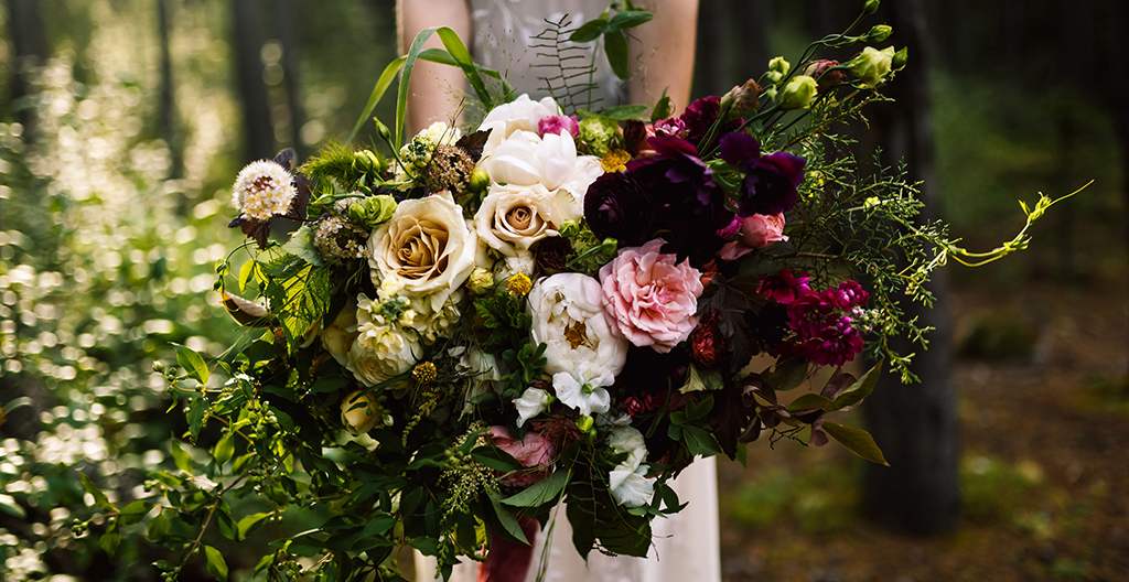 abundant Garden Wedding Bouquet