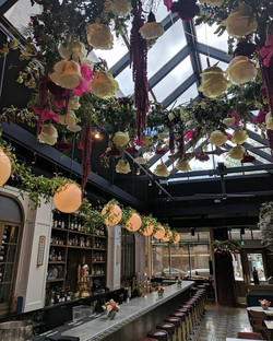 floral chandelliers
