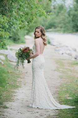 pretty protea wedding bouquet