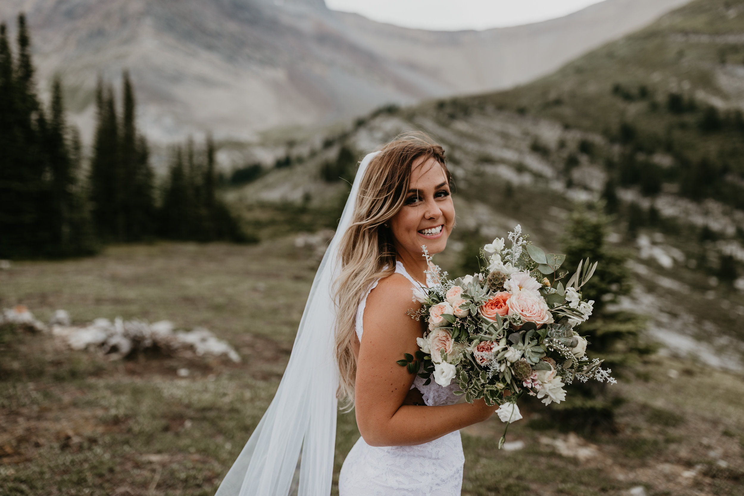 Pretty Mountain Top Wedding