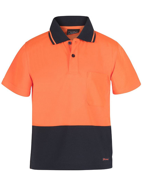 6VNC - JBs Wear - Kids Hi Vis Non Cuff Traditional Polo