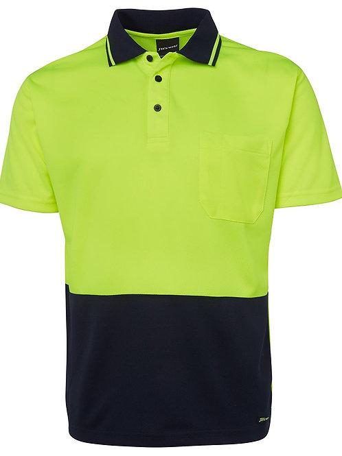 6VNC - JBs Wear - Hi Vis Non Cuff Traditional Polo