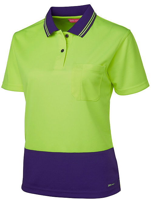 6LHCP- JBs Wear - Ladies Hi Vis S/S Comfort Polo