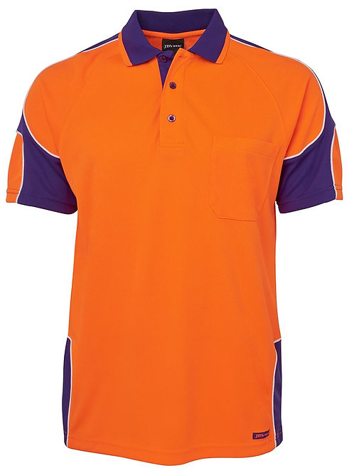 6AP4S - JBs Wear - Hi Vis Arm Panel Polo