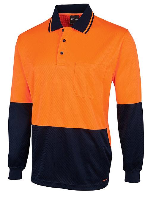 6HJNL- JBs Wear - Hi Vis Long Sleeve Gap Polo