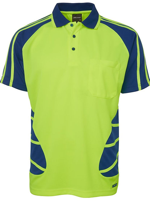 6HSP - JBs Wear - Hi Vis Spider Polo
