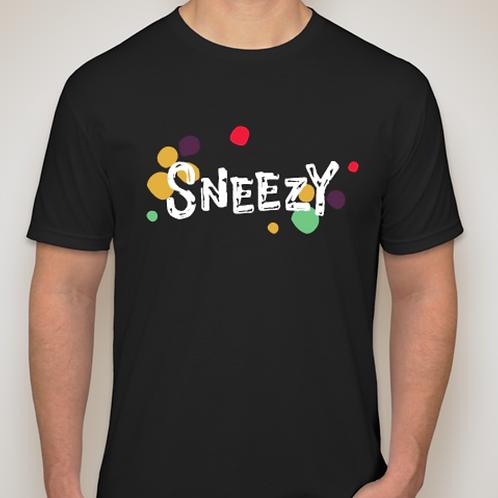 Sneezy Black Logo Tee