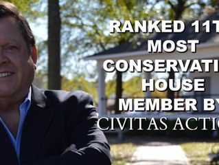 Strickland Ranked 11th Most Conservative Member of NC House