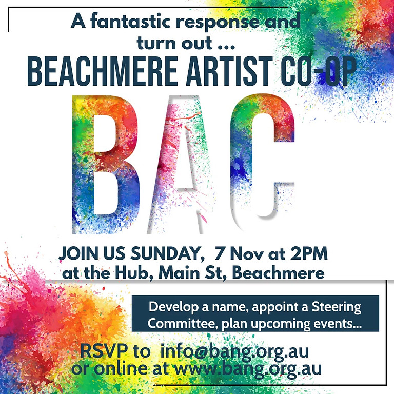 Beachmere Artist Co-op - Naming & Planning