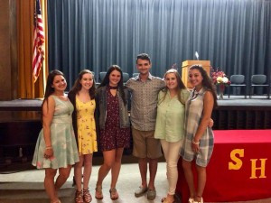 Molly Hines (in maroon) and Taylor Brady (in yellow), welcome to the VSMF scholarship family!