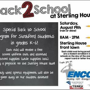Back2School Drive This Saturday At SHCC!