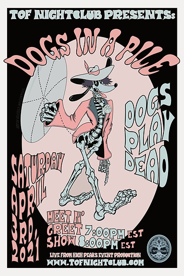 Dogs Play Dead Event Poster