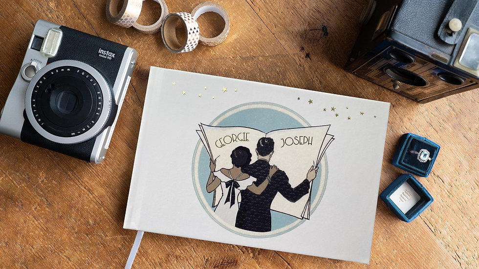 Great Gatsby Art Deco PhotoAlbum - Guest Book