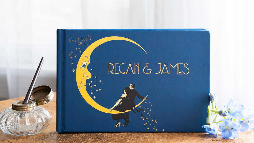 Photo Album - Guest Book - Swinging on the Moon Great Gatsby