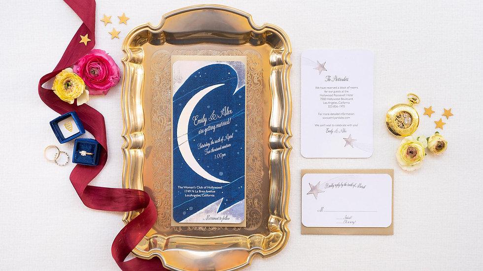 Stardust Celestial Wedding Invitations