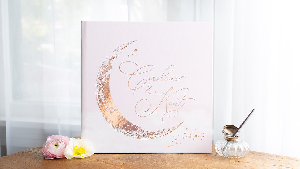 Photo Album - Guest Book - Crescent Moon