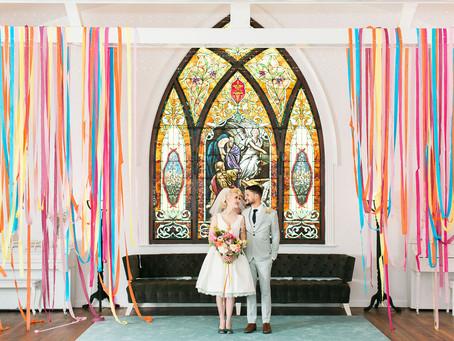 Colorful + Retro Wedding in Los Angeles