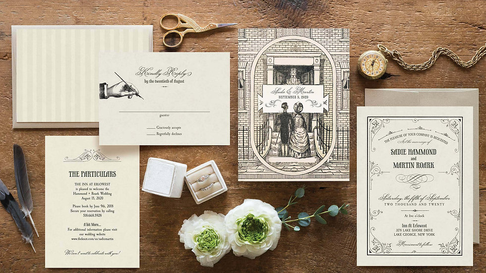 Vintage-Inspired Wedding Invitations - The Wharton