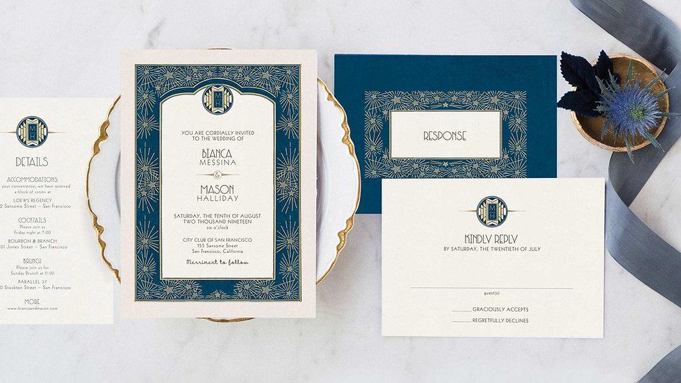 Art Deco Wedding invitations - The Nocturne
