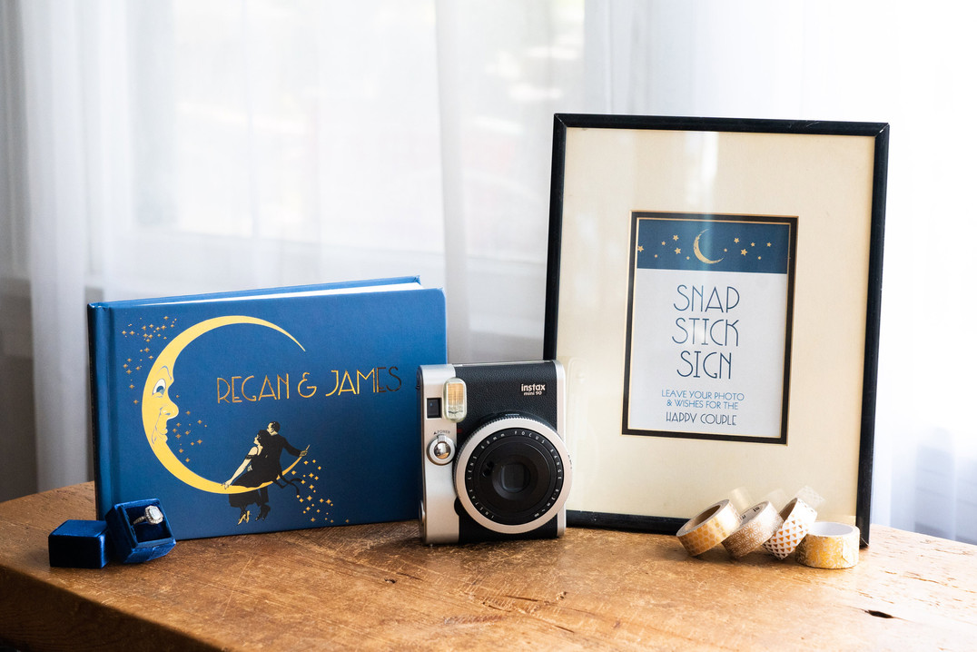 Great Gatsby Moon & Stars Guest Book