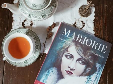 Gilded Swan featured in Marjorie Magazine