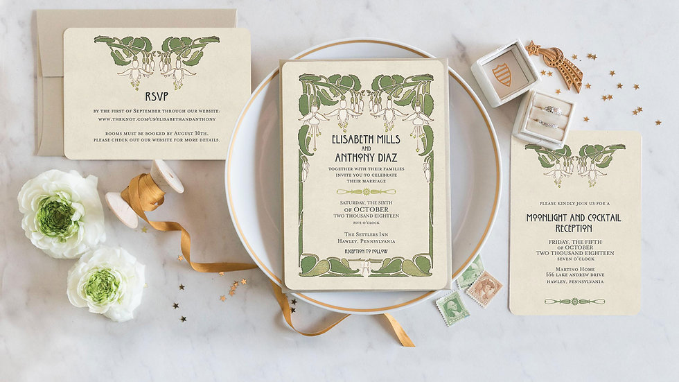 Honeysuckle Wedding Invitations