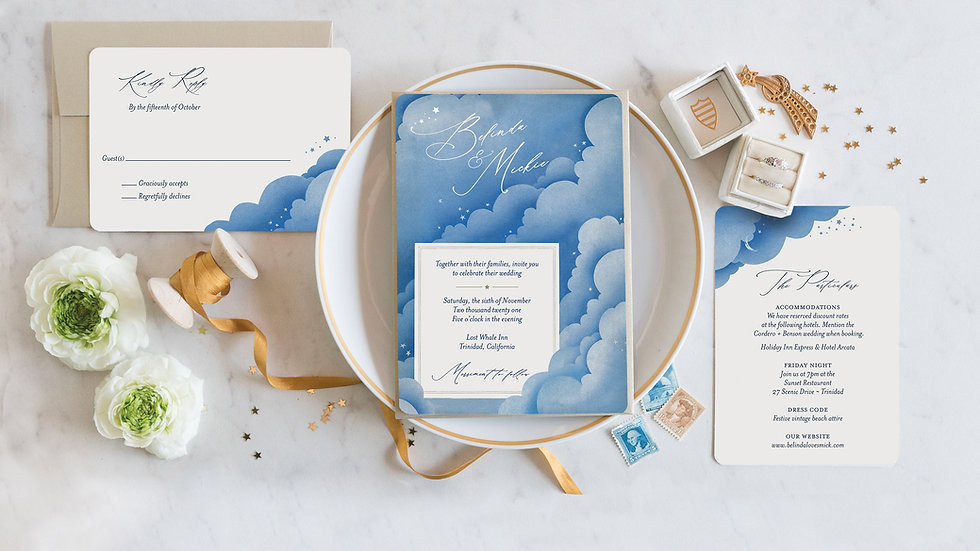 Celestial Clouds Wedding Invitations