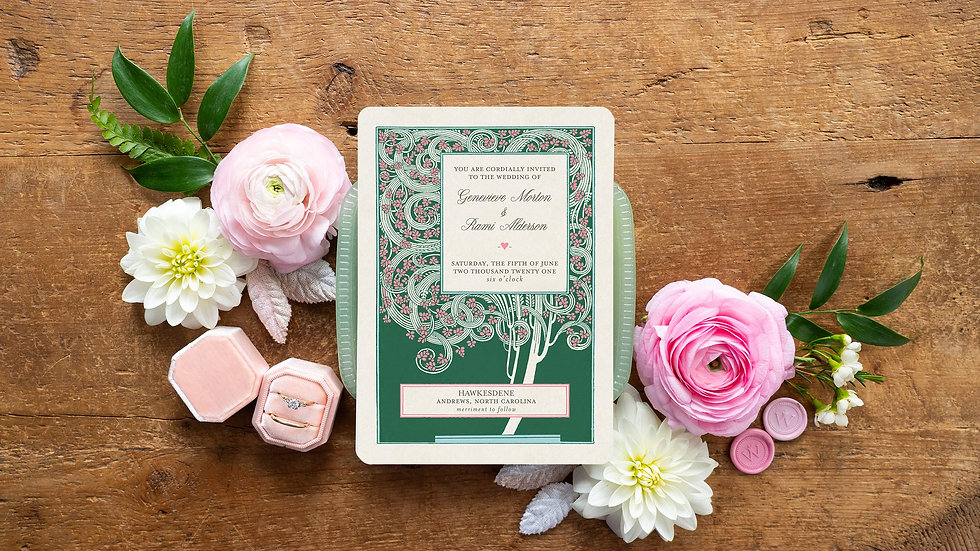 Magnolia Vintage Wedding Invitations