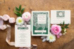 pink_green_vintage_flower_wedding_invitation, southern wedding invitation, garden wedding invitations, magnolia wedding invitation