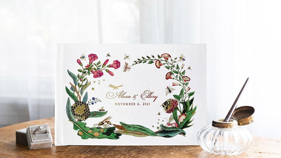 Guest Book Wedding Album - Vintage Botanical