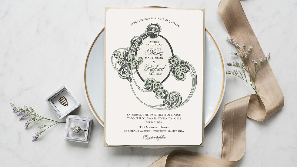 Boho Flourish Wedding Invitations