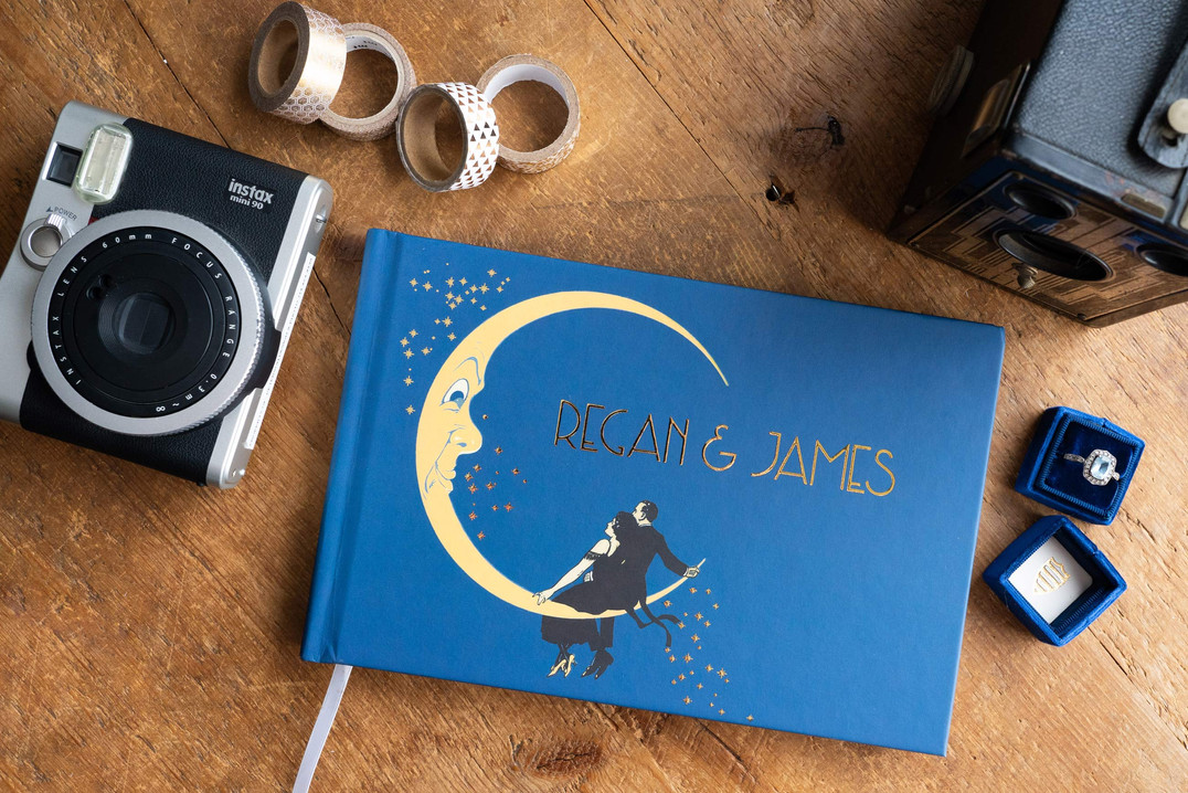 Great Gatsby Starry Night Guest Book - Colors fully customizable