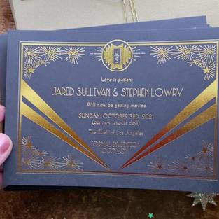 Gold Foil Metallic Printing