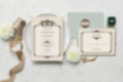 art nouveau wedding, vintage wedding stationery, wedding stationary, gatsby wedding, great gatbsy wedding, art eco save the dates