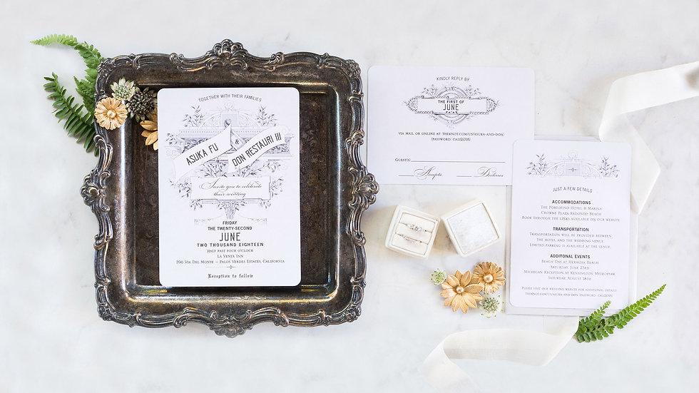 Le Boheme Vintage Wedding Stationery