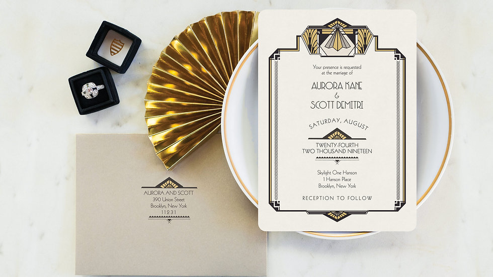 Art Deco Wedding Invitations - The Eastern