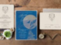 destination wedding invitations, lake wedding, moon wedding invitations, boho wedding invitations