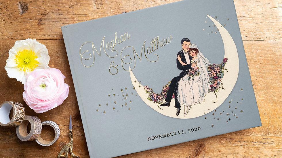 Great Gatsby Paper Moon Wedding Guest Book - Photo Album