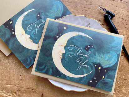 vintage_moon_stars_thank_you_note_card.j