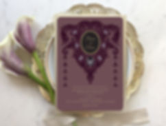 gothic wedding, ultra violet wedding invitations, gothic wedding invitations, goth wedding invites, victorian wedding, gogosnap, fox wedding