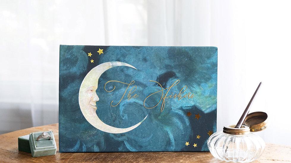 Celestial Guest Book Wedding Album - Moonglow