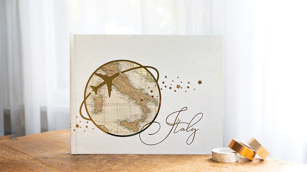 Choose any Destination Travel Photo Album or Wedding Guest Book