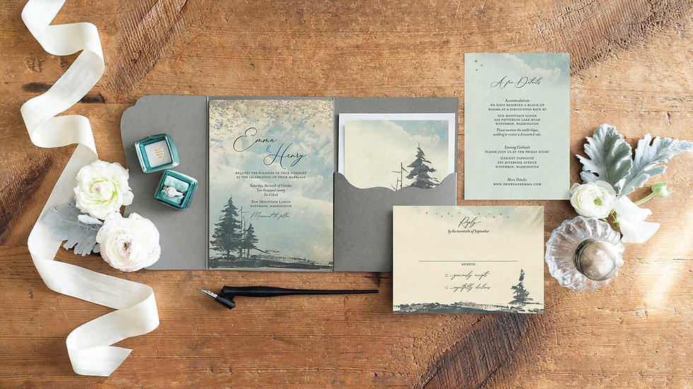 Forest Wedding Invitation Suite