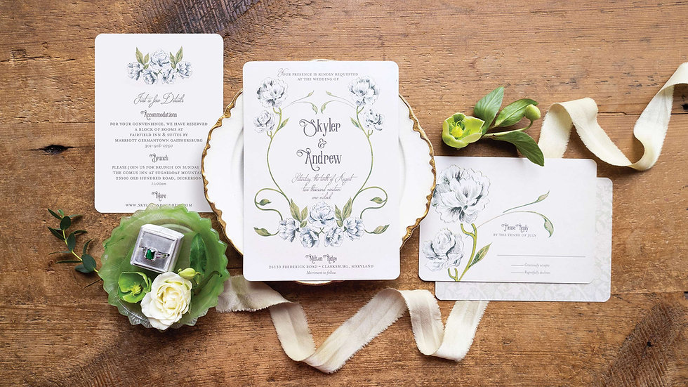 Art Nouveau Wedding Invitations - Sweet Adeline