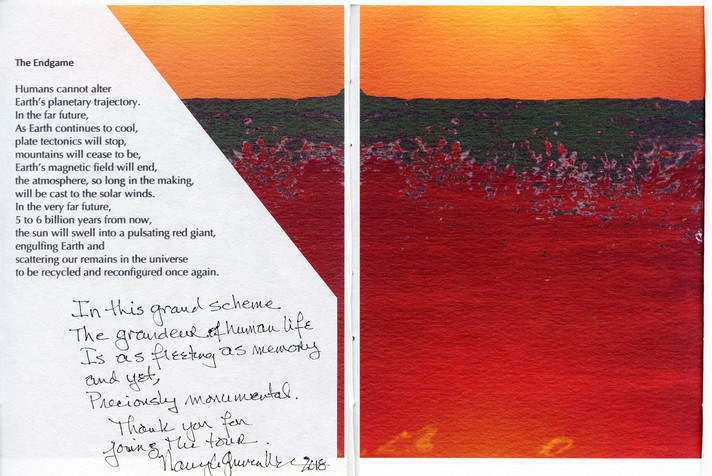 Last page of Artist's Book