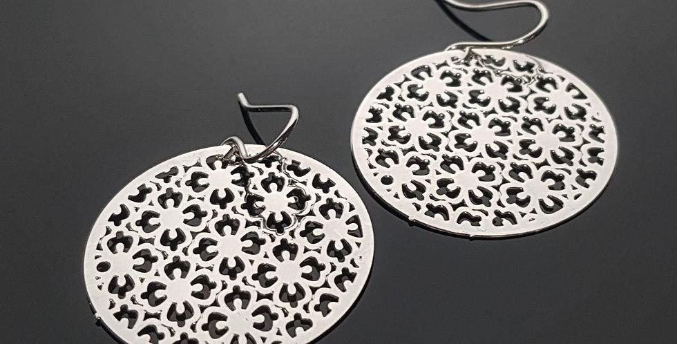 Ornament Ohrringe silber